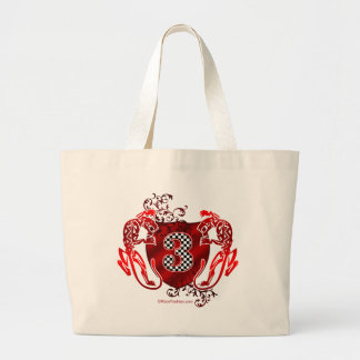 number 3 auto racing tigers canvas bag