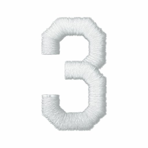 Number 3 embroidered shirt