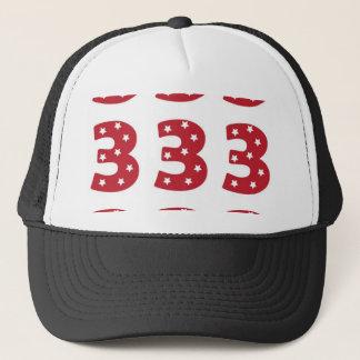 Number 3 - White Stars on Dark Red Trucker Hat