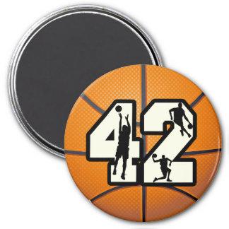 Number 42 Basketball Fridge Magnets