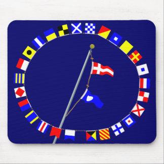 Number 42 Nautical Signal Flag Hoist Mouse Pad