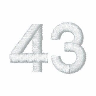 number 43 embroidered polo shirt