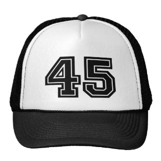 Number 45 Birthday Cap