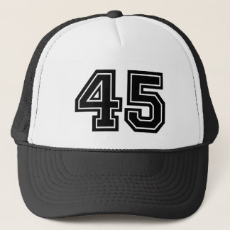 Number 45 Birthday Trucker Hat
