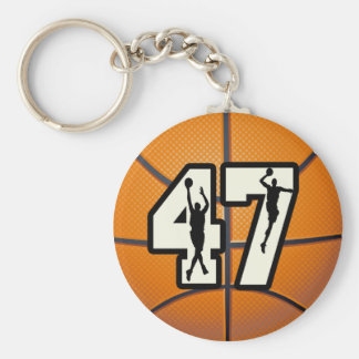 Number 47 Basketball Key Ring