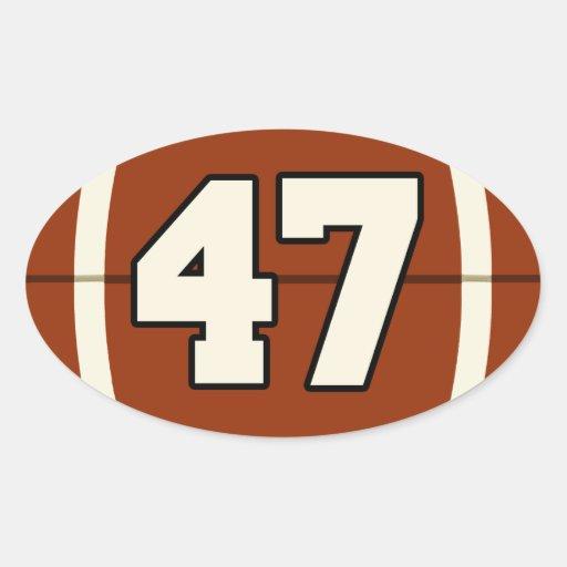 Number 47 Football Sticker | Zazzle