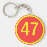 number, 47, in a circle key chains