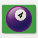 NUMBER 4 BILLIARDS BALL MOUSEPADS