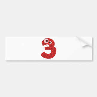 Number 4 bumper sticker