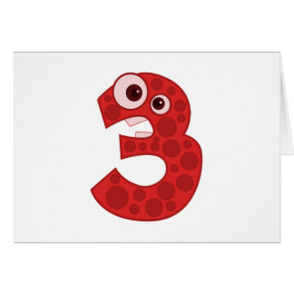 Number 4 greeting cards