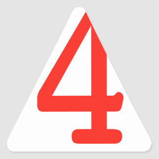 Number 4 stickers