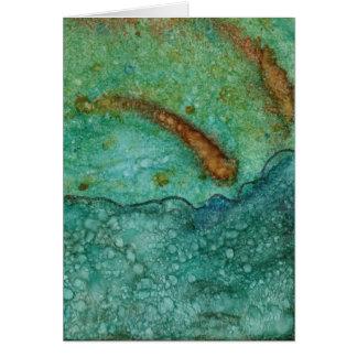 Number 4 Tile Art Greeting Card