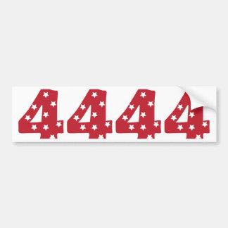 Number 4 - White Stars on Dark Red Bumper Sticker