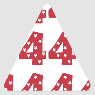 Number 4 - White Stars on Dark Red Triangle Sticker