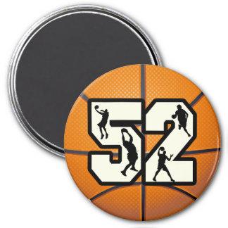 Number 52 Basketball Refrigerator Magnets