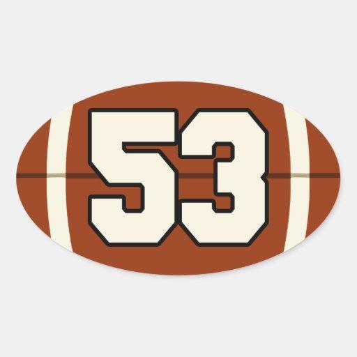 Number 53 Football Sticker Zazzle