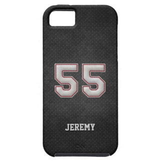 Number 55 Baseball Stitches with Black Metal Look iPhone 5 Cases