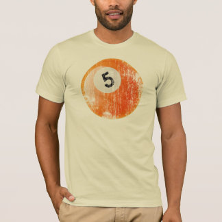NUMBER 5 BILLIARDS BALL - ERODED AND AGED STYLE T-Shirt