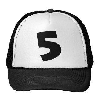 """Number """"5"""" cap"""