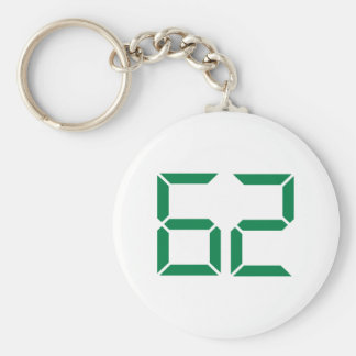 Number – 62 key chains
