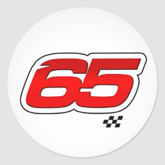 Number 65 - Sticker