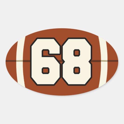 Number 68 Football Sticker | Zazzle