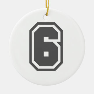 Number 6 christmas ornament