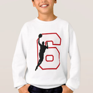 NUMBER 6 WITH BASKETBALL PLAYER SWEATSHIRT