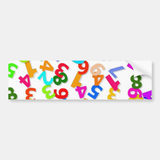 number-70828_1920 LEARNING EDUCATION COLORFUL 3DD Bumper Sticker