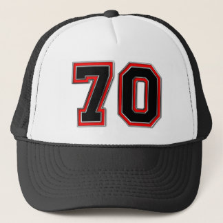 Number 70 trucker hat