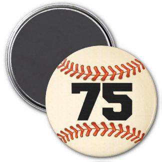 Number 75 Baseball 7.5 Cm Round Magnet