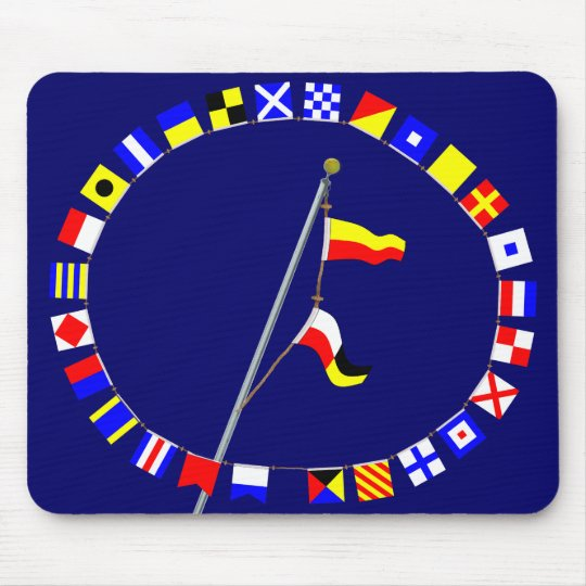 Number 79 Nautical Signal Flag Hoist Mouse Mat