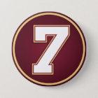 Number 7 7.5 cm round badge