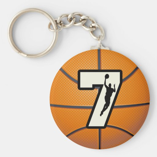 Number 7 Basketball and Player Key Chains