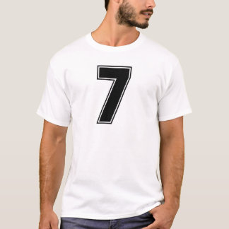 Number 7 front and backside print T-Shirt