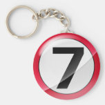 Number 7 red Key Chain