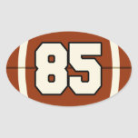 Number 85 Football Sticker