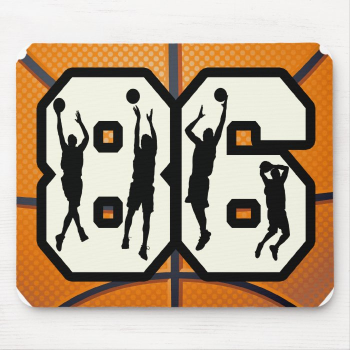 Number 86 Basketball Mouse Pad