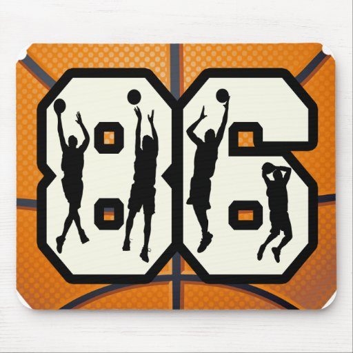 Number 86 Basketball Mousepad