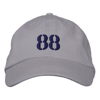 Number 88 Personalized Adjustable Hat Embroidered Hat