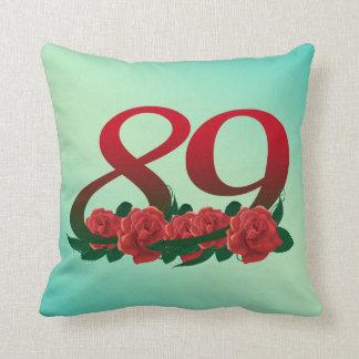 """Number 89 Throw Pillow 16"""" x 16"""""""