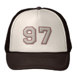 Number 97 with Cool Baseball Stitches Look Cap