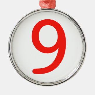 Number 9 christmas ornament