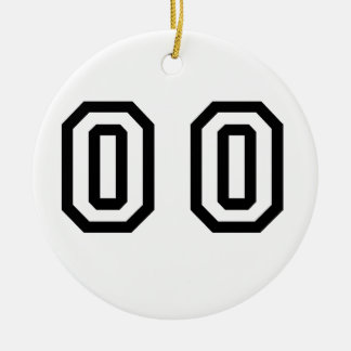 Number Double Zero Round Ceramic Decoration