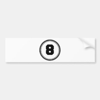 Number eight circle bumper sticker