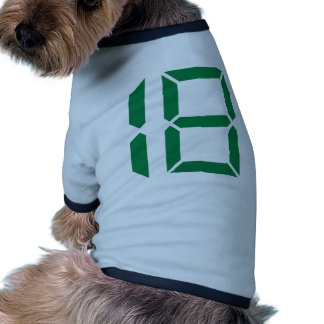 Number - Eighteen - 18 Pet T Shirt