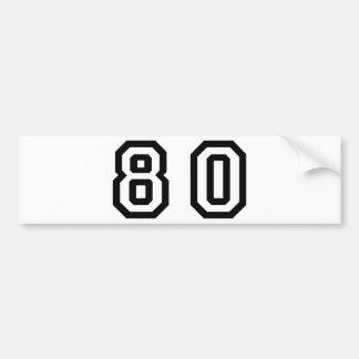 Number Eighty Bumper Sticker