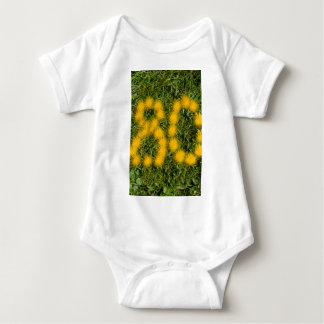 number eighty designed with dandelion on the lawn baby bodysuit