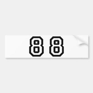 Number Eighty Eight Bumper Sticker
