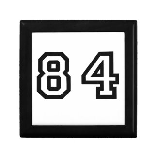 Number Eighty Four Small Square Gift Box
